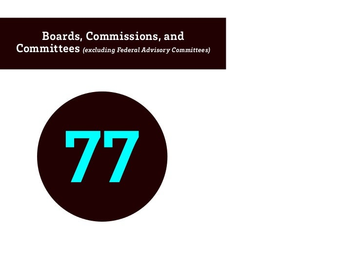 Boards, Commissions, andCommittees (excluding Federal Advisory Committees)