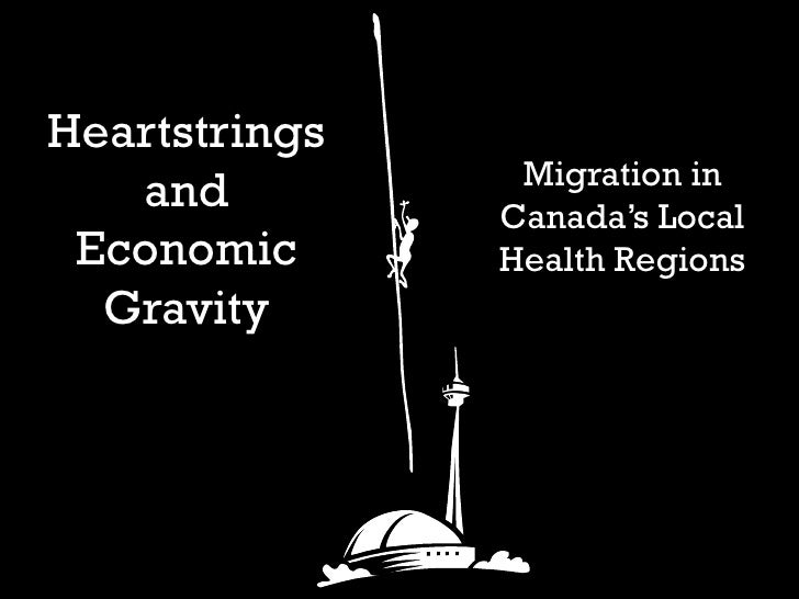 Heartstrings and Economic Gravity Migration in Canada's Local Health Regions