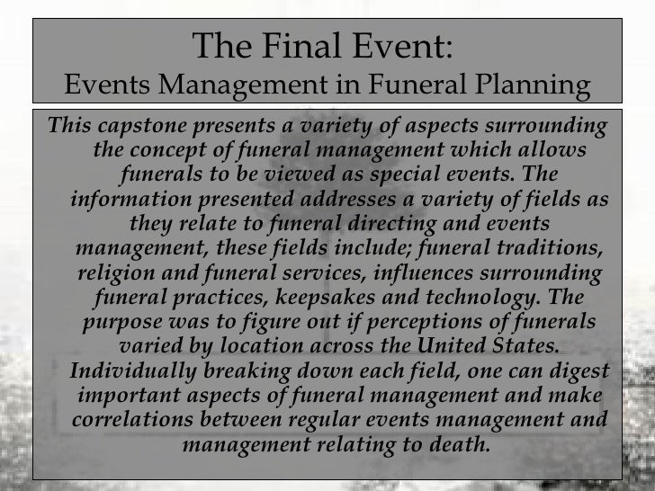 Event planning thesis