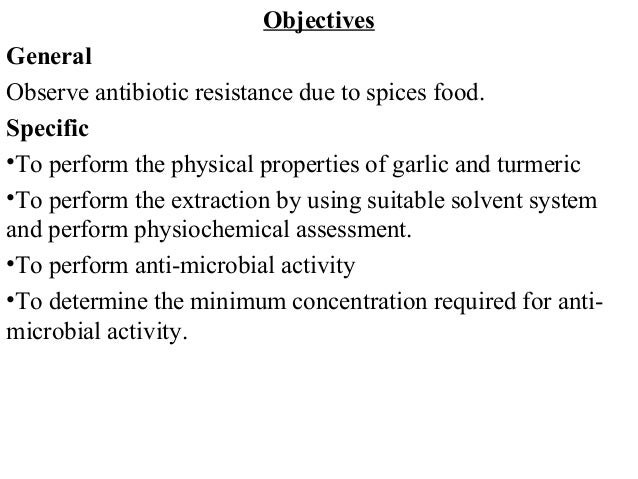 Antimicrobial property thesis