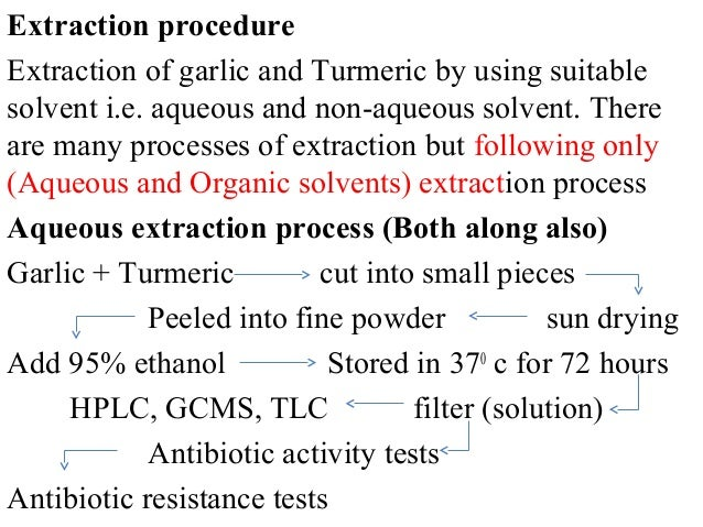 Solvent extraction thesis