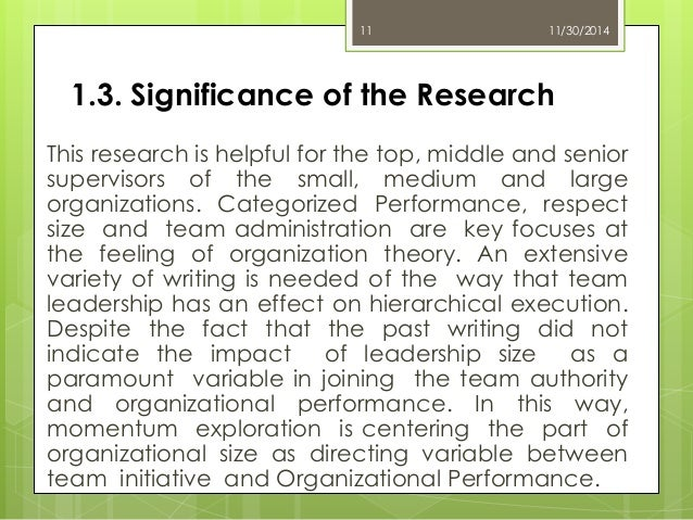 The Impact of Leadership on Organizational Performance