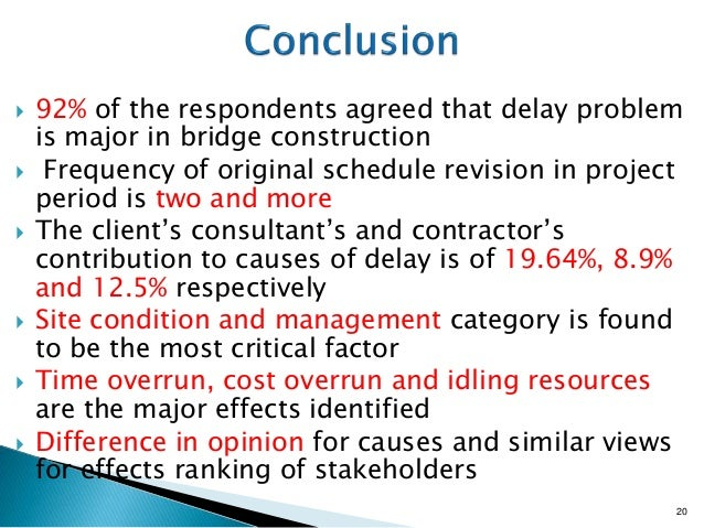 construction project delay causes and effects Significant factors causing and effects of delay in  effects of delay, iran, construction project  s no causes of delay in construction projects al.