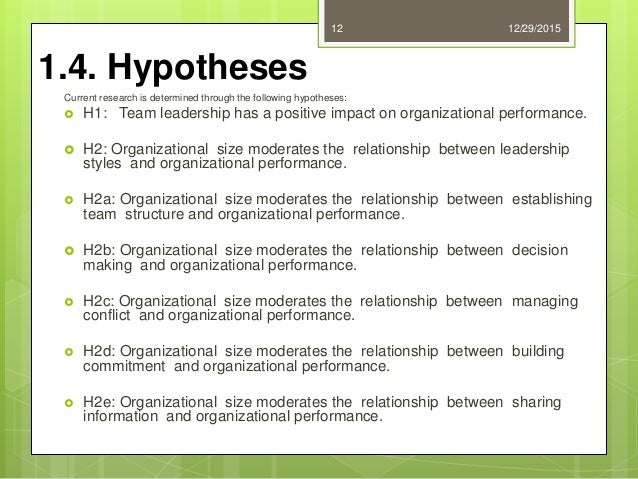 thesis on impact of leadership on organizational performance