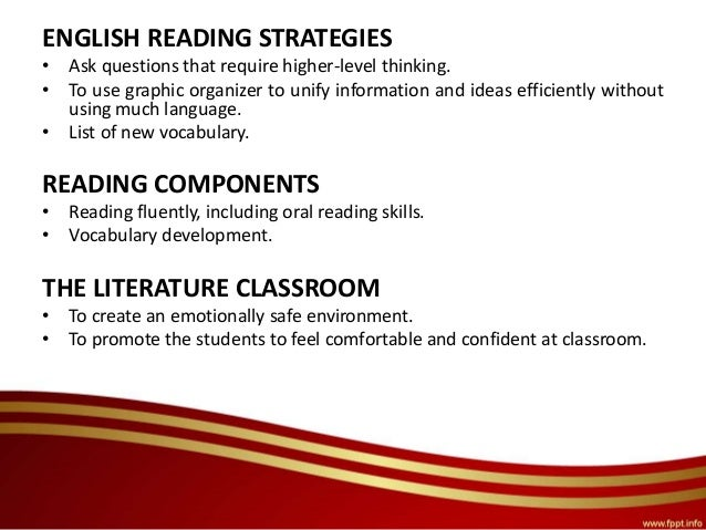critical thinking strategies for reading