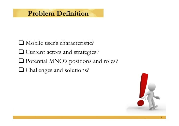 Master thesis problem definition