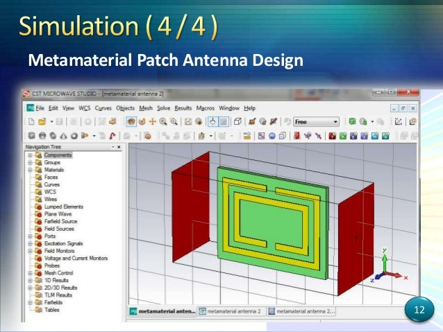 thesis on microstrip patch antenna using metamaterial Cpw fed wideband patch antenna using slots and multiband patch antenna using metamaterial  thesis title a novel annular shape microstrip  current students.