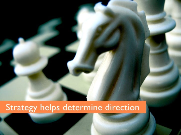 Strategy helps determine direction