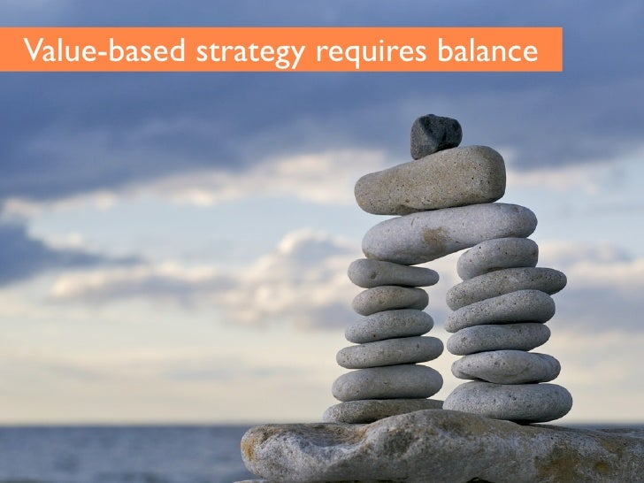 Value-based strategy requires balance