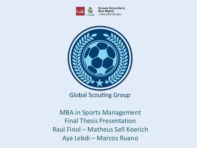 Master thesis sport management