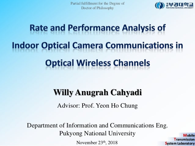 Mobile Transmission System Laboratory Partial fulfillment for the Degree of Doctor of Philosophy Willy Anugrah Cahyadi Adv...
