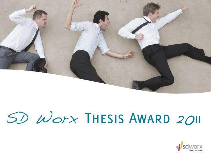 SD Worx Thesis Award 2011