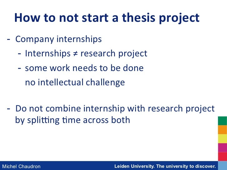 Thesis guidelines leiden