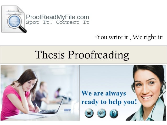 Thesis proofreading