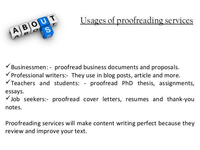 proofread thesis
