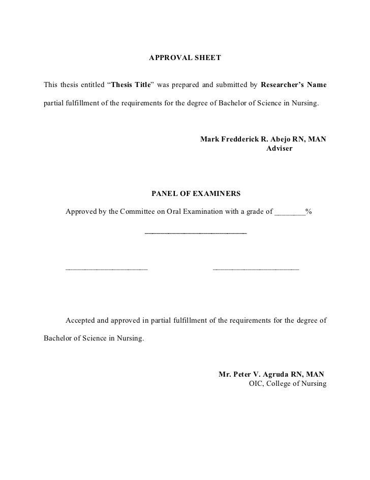 Nursing thesis titles