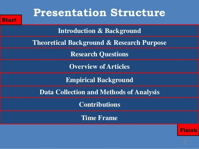 Dissertation proposal oral presentation