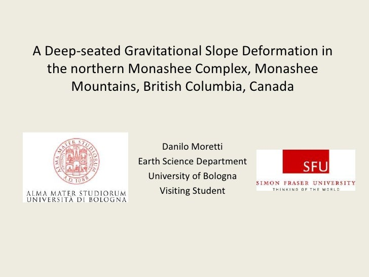 A Deep-seatedGravitationalSlopeDeformation in the northernMonasheeComplex, Monashee Mountains, British Columbia, Canada<br...