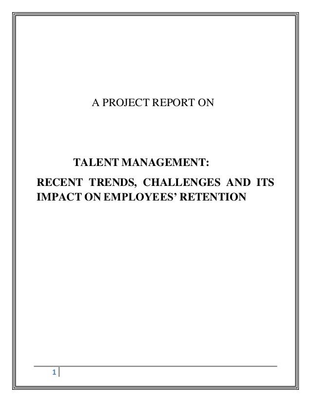 Dissertation report on talent management