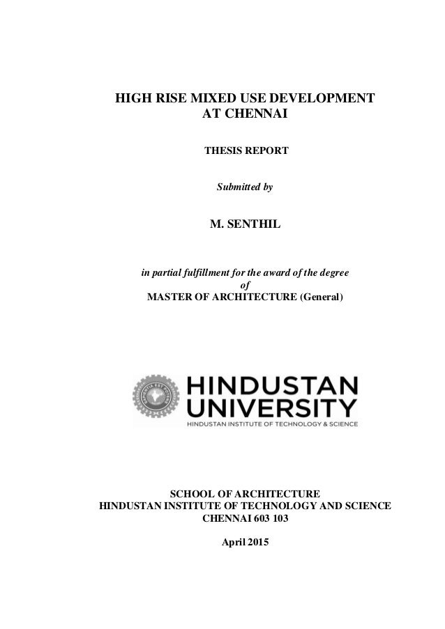 Master thesis report