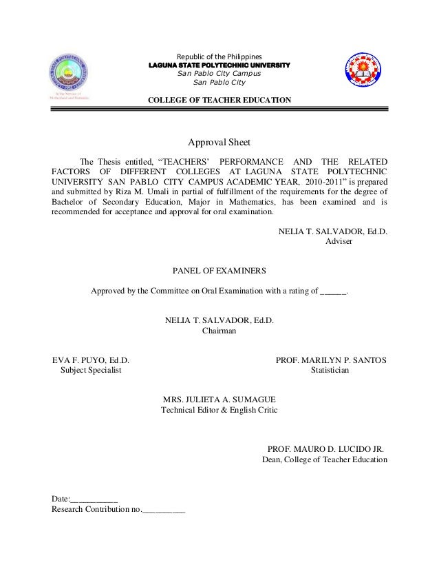 polytechnic university thesis A thesis - assessment of the levels of study skills of computer engineering  students at the polytechnic university of the phillippines.
