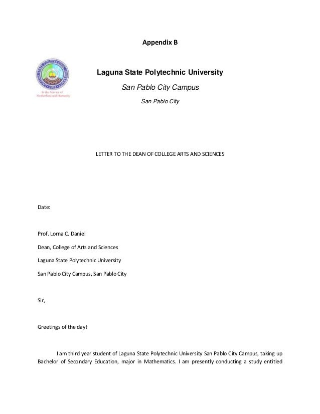 Request Letter to Conduct Research Study - A Letter Writer