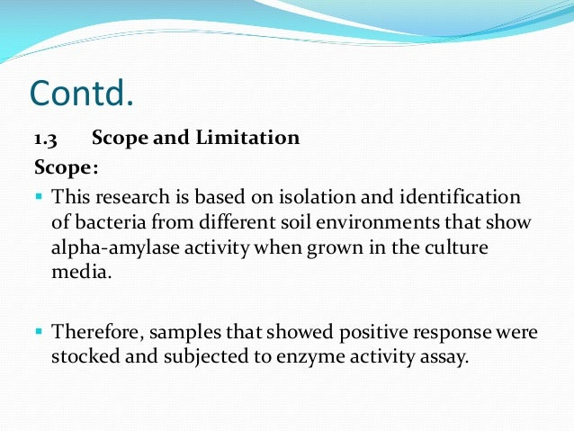 what to write in scope and limitations in a research paper