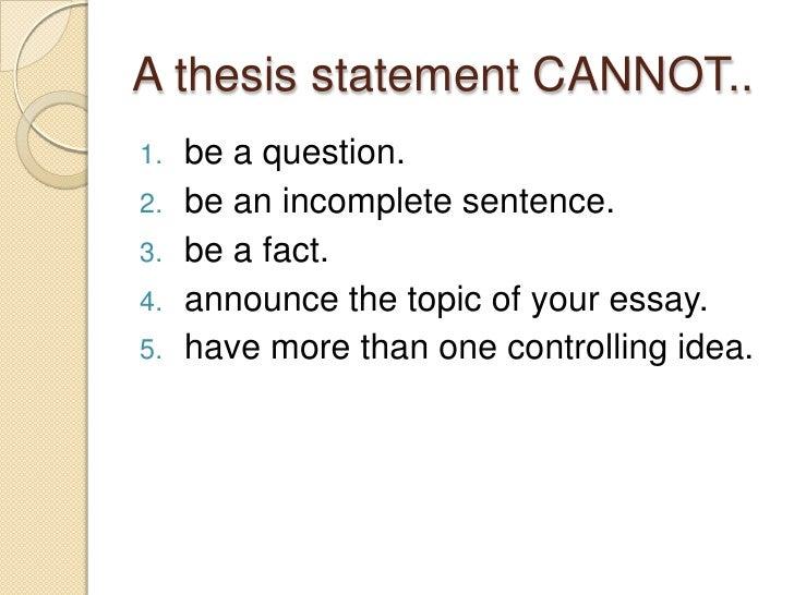 thesis statement adalah