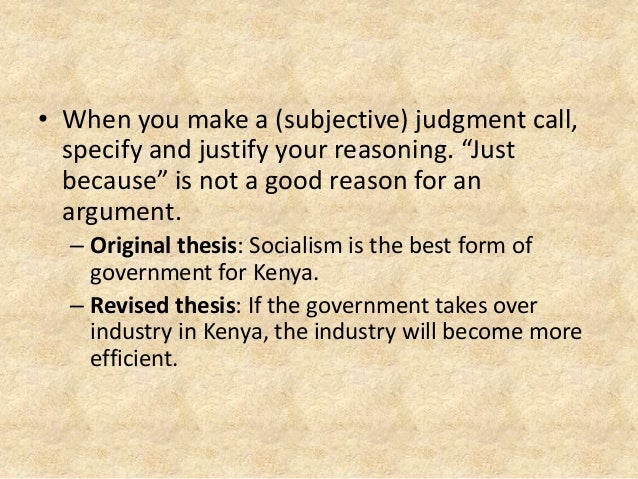 a good thesis is complex and specific Not provide the reader with specific reasons why fast food is bad for your  some  examples of bad original thesis statements and good  for a complex issue.