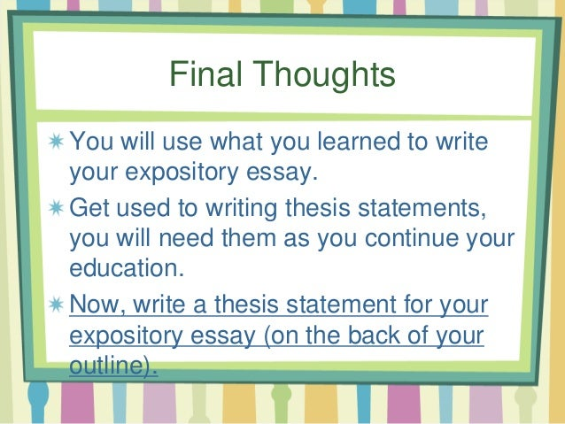 essay final thoughts