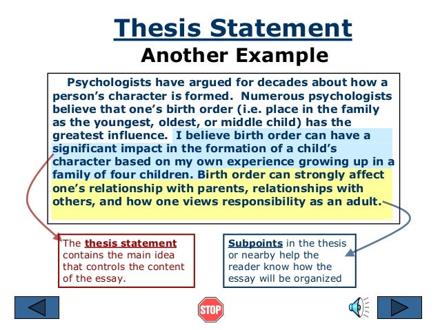 Pay to get psychology thesis statement – Thesis Statement