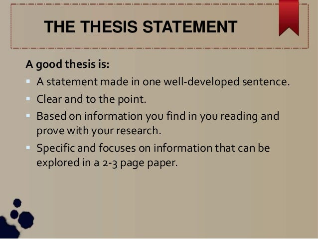good thesis statements examples research paper Importance of thesis statement examples for research papers going through samples of contextual statements is good as it enables you to advance in your writing skills in today's world, the internet provides access to various resources where you can get research writings with well-written propositions.
