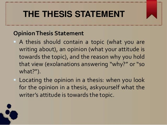 what should a thesis contain