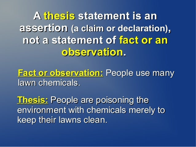 Writing an Observation Essay, from Outline to Thesis