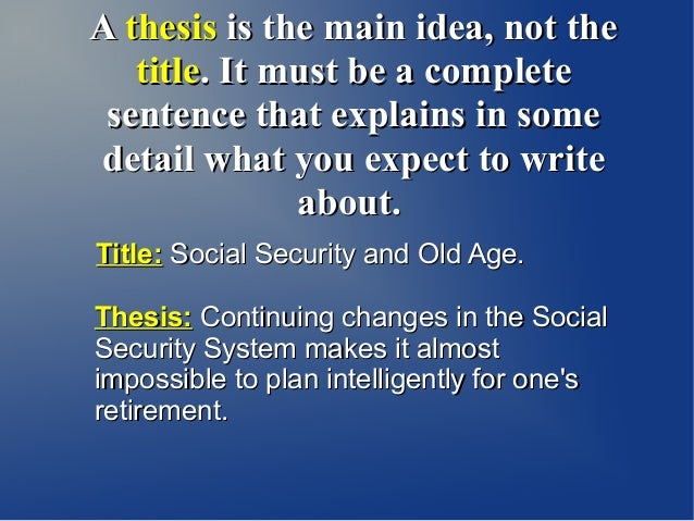 thesis statement five paragraph essay 4 a thesis is the