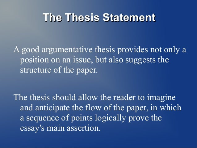 Thesis Statement Five Paragraph Essay  The Thesis