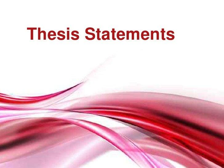 ThesisStatements<br />
