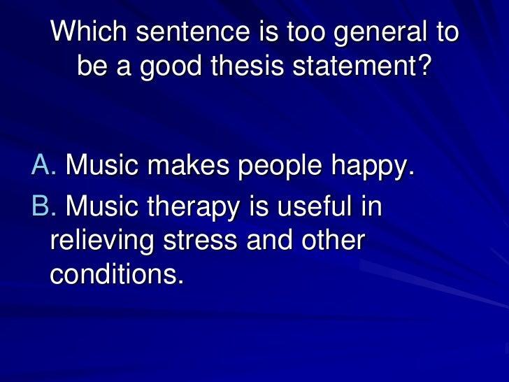 dance thesis statement