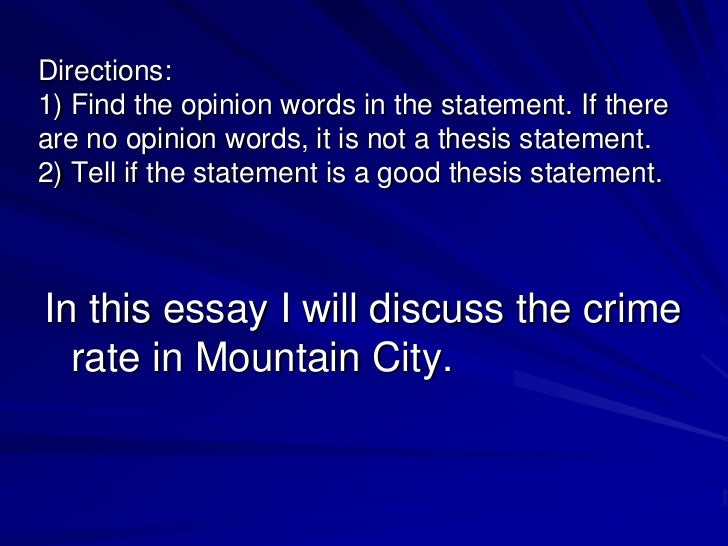 thesis example statement about crime