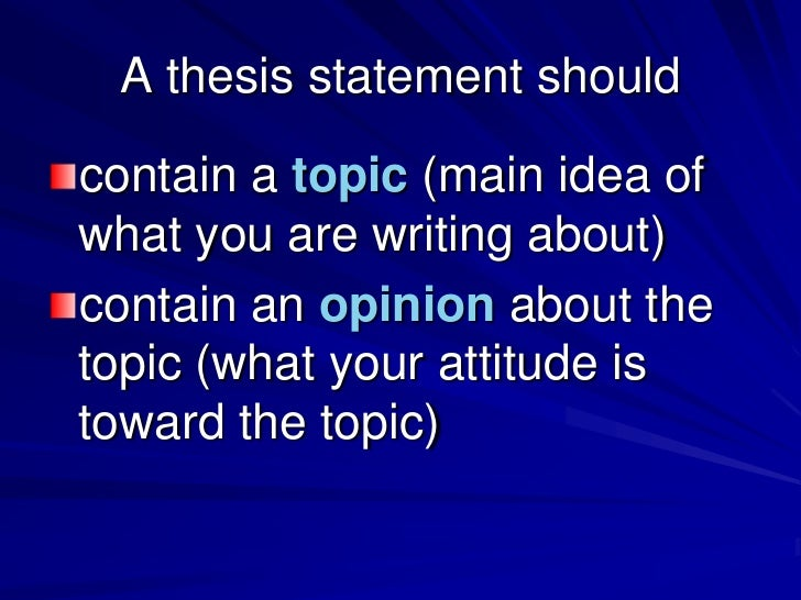 writing a thesis statement in elementary school