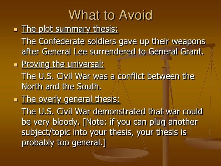 civil war thesis statement