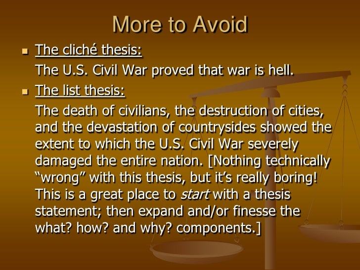 A thesis is not simply a topic.</li></li></ul><li>Your thesis should include three components: WHAT, HOW, and WHY<br />WHA...