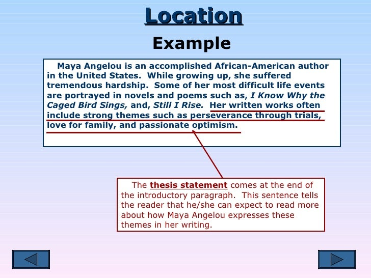 Maya angelou thesis statement