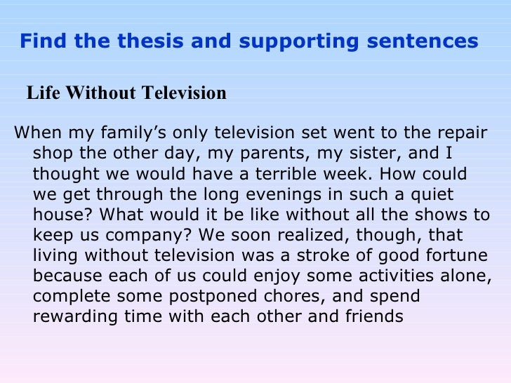 Life without television essay
