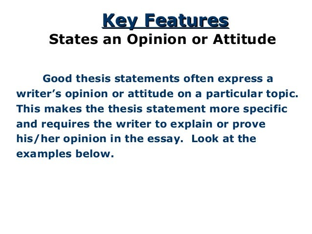 the thesis statement a road map for your essay  good thesis statements