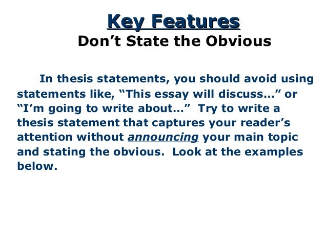 the thesis statement a road map for your essay  15 in thesis statements
