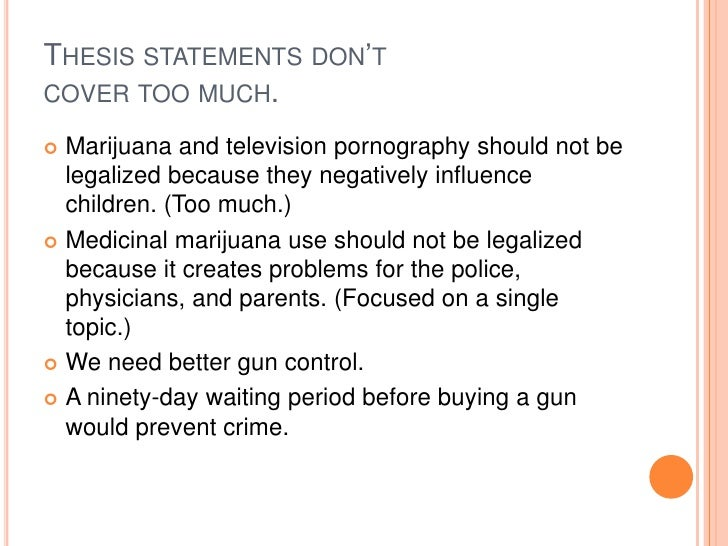 how to write a thesis statement on gun control