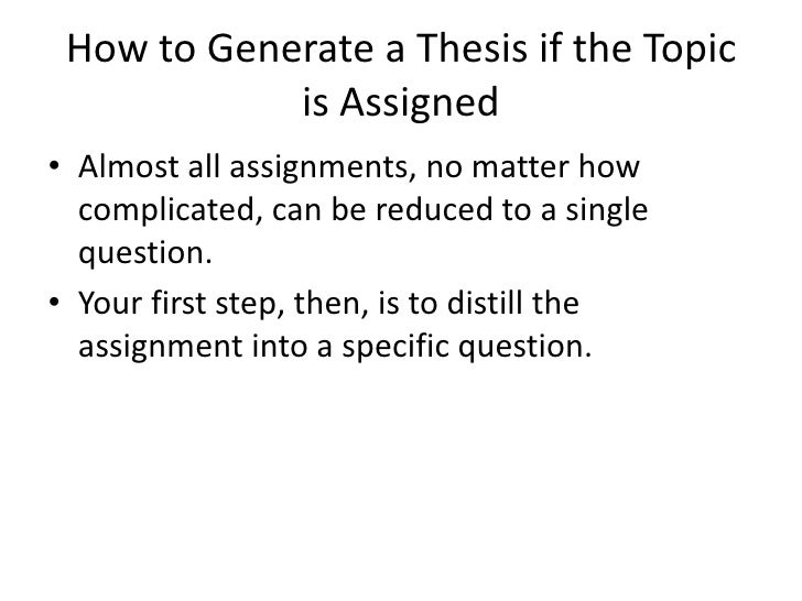 how to make a thesis statement jar