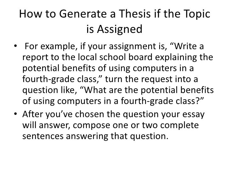 Help with writing a thesis statement dbq essay