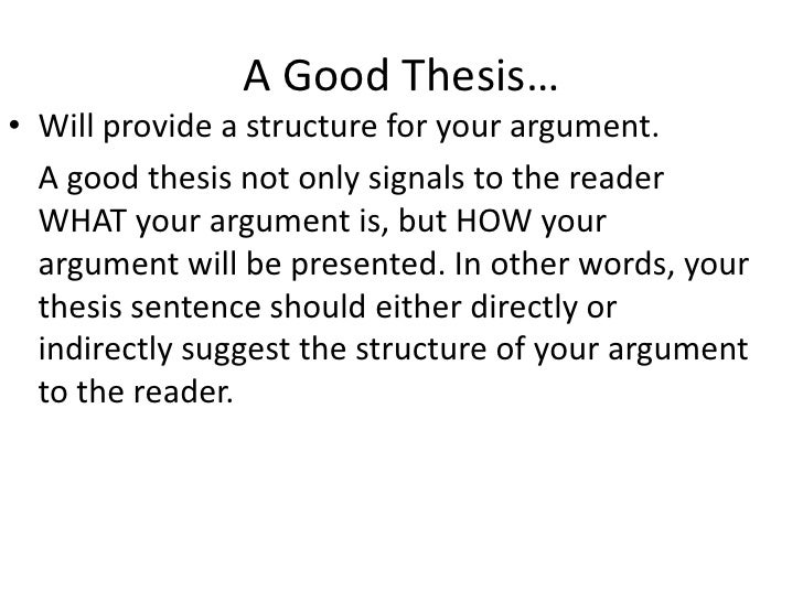 what is the best definition of a thesis statement